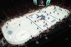 Rogers Arena Vancouver Canucks warm-up