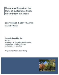 The Annual Report on the State of Sustainable Public Procurement in Canada